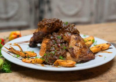 Large plate of jerk chicken wings at Ruby Tuesday's Soul Food Dublin
